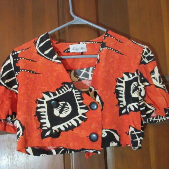 762f1f2b58f Michael Blair Tops | African Print Cropped Top Small | Poshmark